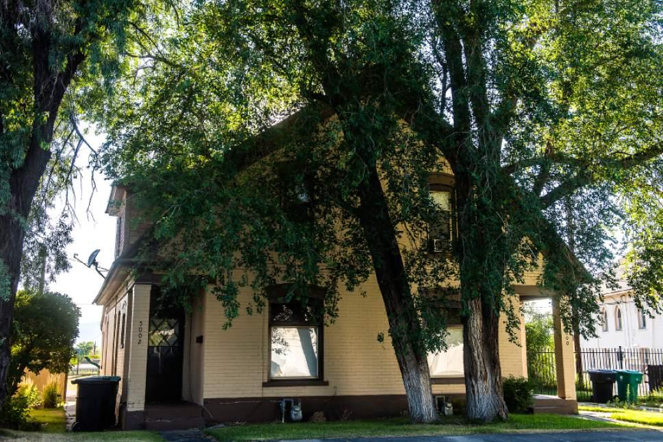 Chris Detrick  |  The Salt Lake Tribune   A Dutch revival double house built in 1906 photographed in Murray on Thursday, June 29, 2017.