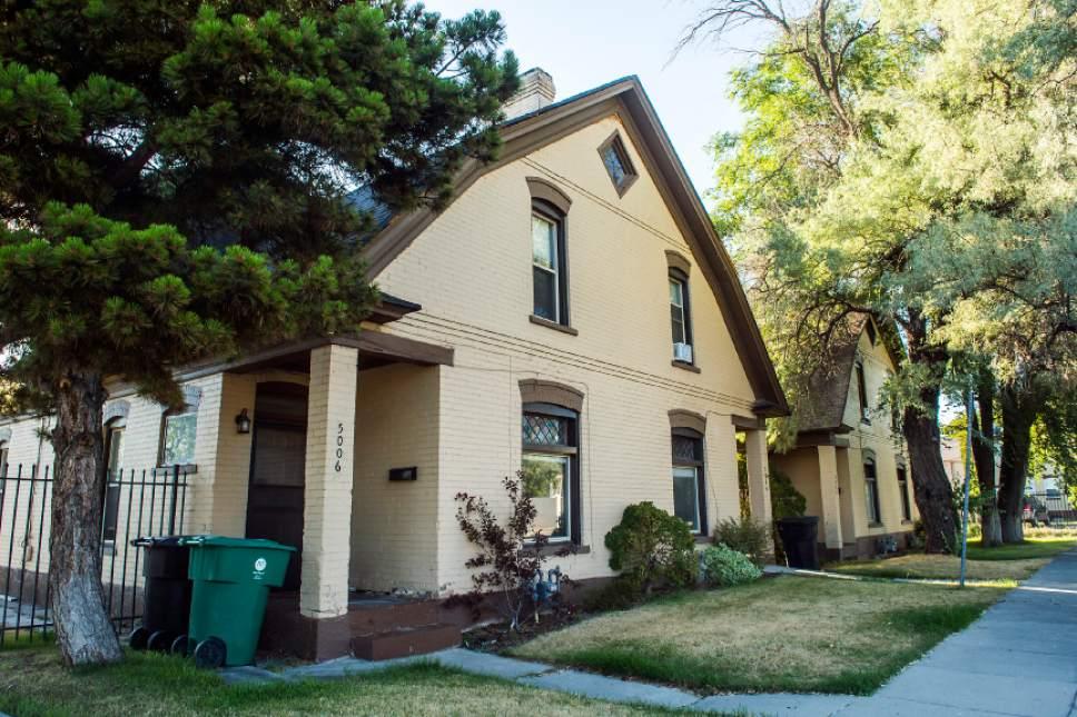 Chris Detrick  |  The Salt Lake Tribune    Dutch revival double houses built in 1906 photographed in Murray on Thursday, June 29, 2017.