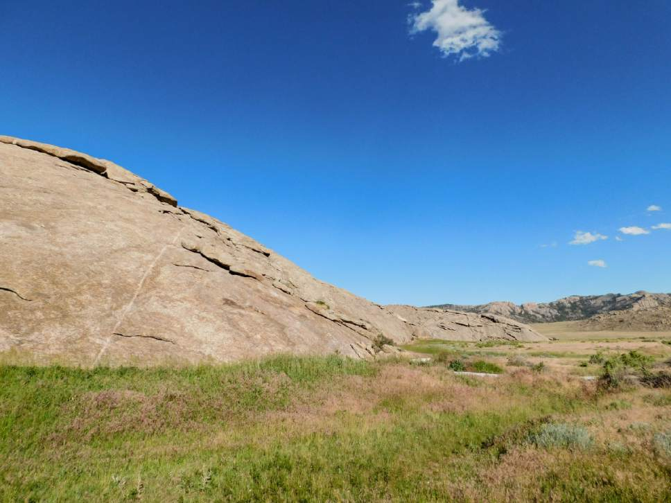Erin Alberty  |  The Salt Lake Tribune  Scenes from the Oregon Trail: Independence Rock, Natrona County, Wyo.