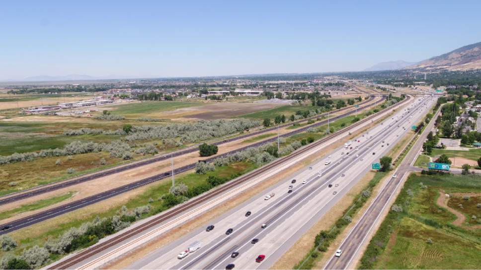 |  Courtesy UDOT   The Utah Department of Transportation released photos along the state's preferred route of the West Davis Corridor freeway as identified Thursday in a new environmental impact statement.