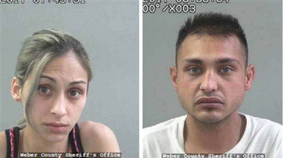 |  Courtesy Weber County Jail   Brenda Emile, left, and Miller Costello, right.