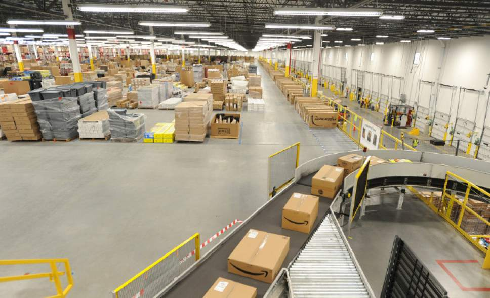 Herald News Photo | Jack Foley An Amazon facility that opened in September in Fall River, Mass., is vast, at  1.3 million square feet and a quarter-mile long. Amazon has announced plans to build a similar fulfillment center in Salt Lake City, with the help of a $5.6 million tax incentive from the state.