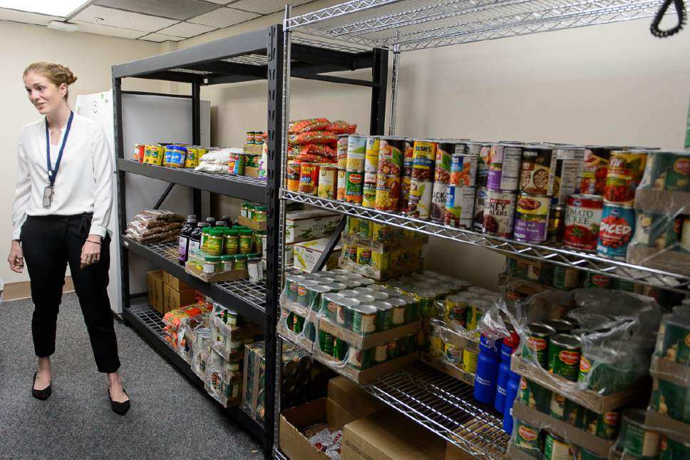 Trent Nelson  |  The Salt Lake Tribune   Natalie Green at the Salt Lake VA's new food pantry, Thursday June 22, 2017. Research shows one-quarter of vets who get care through VA reported food insecurity in the past month. That's a higher rate than the general population.