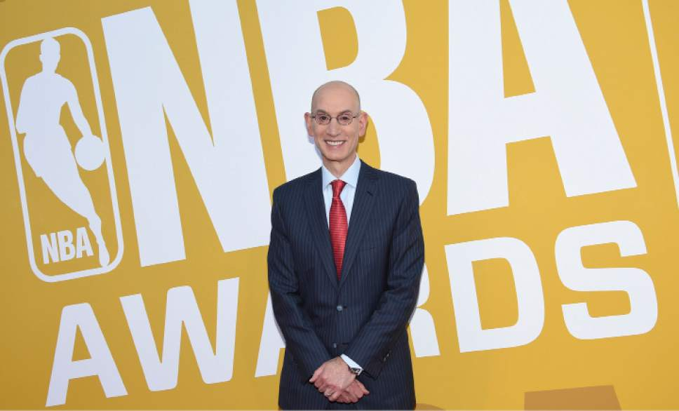 NBA Commissioner Adam Silver arrives at the NBA Awards at Basketball City at Pier 36 on Monday, June 26, 2017, in New York. (Photo by Evan Agostini/Invision/AP)