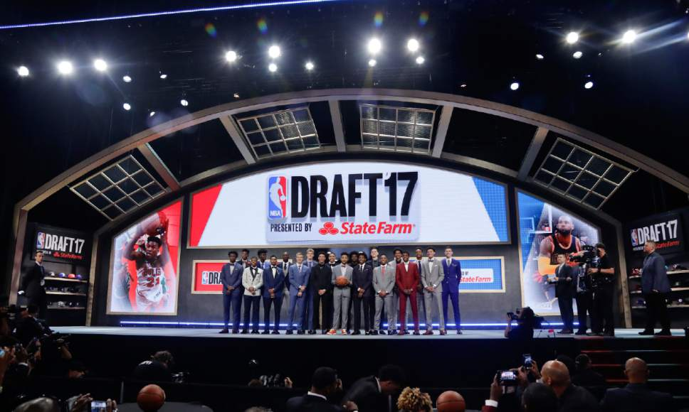 Top draft prospects gather for a group photo before the NBA basketball draft, Thursday, June 22, 2017, in New York. (AP Photo/Frank Franklin II)