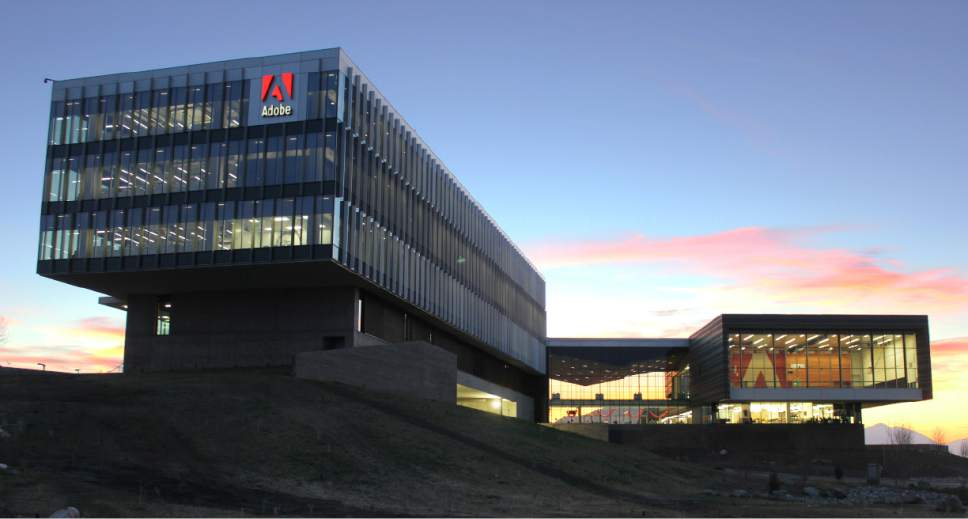    Courtesy Adobe Inc.   Adobe Inc. plans to expand its presence in Utah by adding a $90 million building to its campus along Interstate 15 in Lehi.