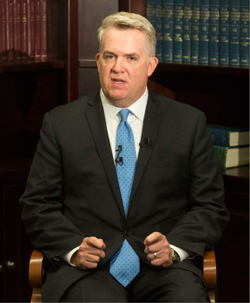 Rick Egan  |  The Salt Lake Tribune  U.S. Attorney John W. Huber talks about  the case where a northern Utah emergency room nurse has been federally indicted for illegally obtaining controlled substances--dilaudid and morphine--and tampering with those controlled substances, which were then administered to hospital patients. Thursday, July 13, 2017.