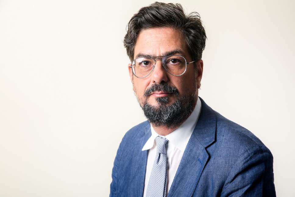 """Roman Coppola, executive producer of the Amazon series """"Mozart in the Jungle,"""" will be judge for a short-film contest sponsored by the Francis Ford Coppola Winery, with the top entries screening at the winery's lounge at the 2018 Sundance Film Festival. Here, he poses for a portrait during the 2016 Television Critics Association Summer Press Tour at the Beverly Hilton on Sunday, Aug. 7, 2016, in Beverly Hills, Calif. (Photo by Rich Fury/Invision/AP)"""