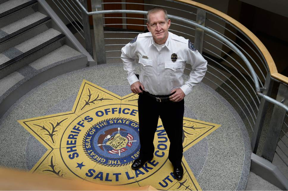 Scott Sommerdorf   |  The Salt Lake Tribune   Sheriff Jim Winder, poses in the atrium at the Salt Lake Sheriff's building, Saturday, July 15, 2017.