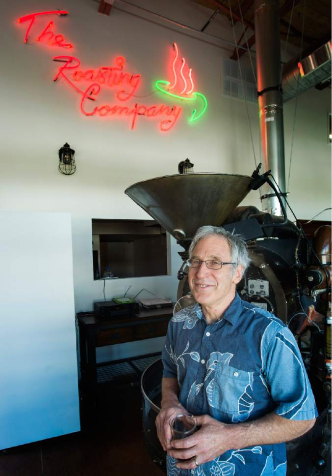 Rick Egan     The Salt Lake Tribune  John Bolton owner of the Salt Lake Roasting Company at the new location 820 E. 400 South. Friday, June 23, 2017.