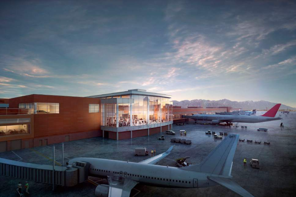 photo courtesy Salt Lake International Airport  This rendering shows a view of what the airport remodel may look like.