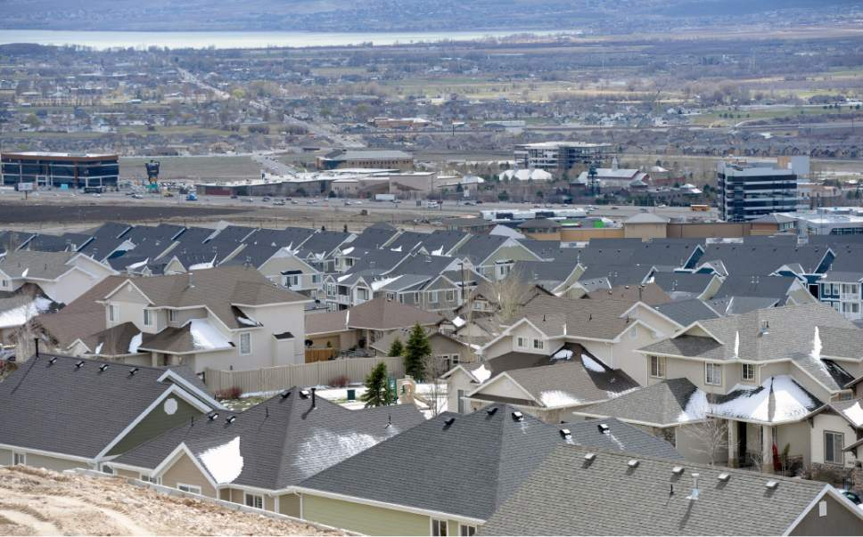 Al Hartmann  |  Tribune file photo New houses have sprung up just north of I-15 in Lehi near the Outlets at Traverse Mountain.  Utah County is growing at a rapid rate and that is expected to continue in coming decades as the No. 2 largest county in the state draws closer to Salt Lake County.