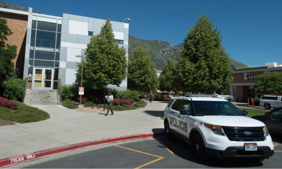 Steve Griffin | The Salt Lake Tribune  The police offices on the campus of Brigham Young University in Provo Wednesday June 1, 2016.