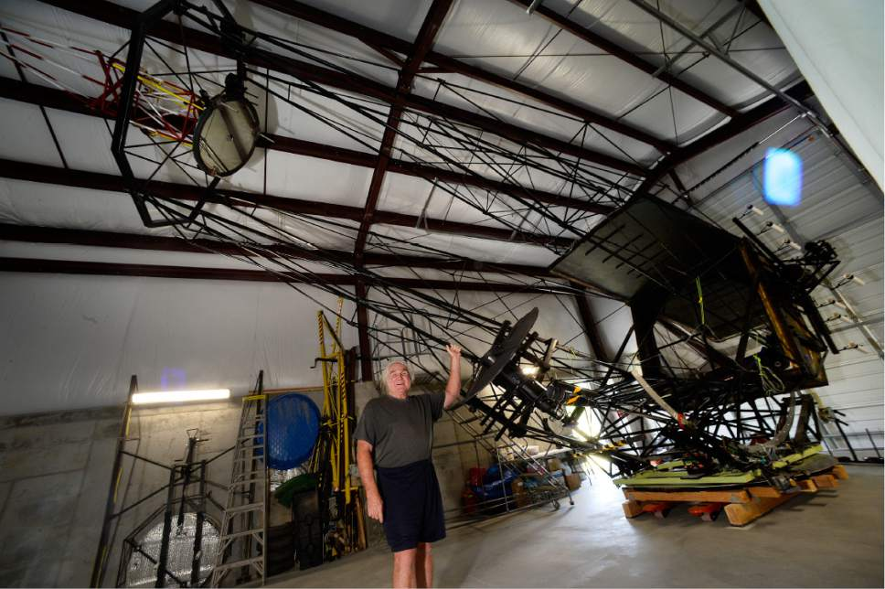 Scott Sommerdorf   |  The Salt Lake Tribune   Mike Clements with the 70 inch telescope he built in 2013 now housed at the Stansbury Park Observatory Complex, Friday, July 21, 2017.  He believes it's the largest amateur telescope in the world.