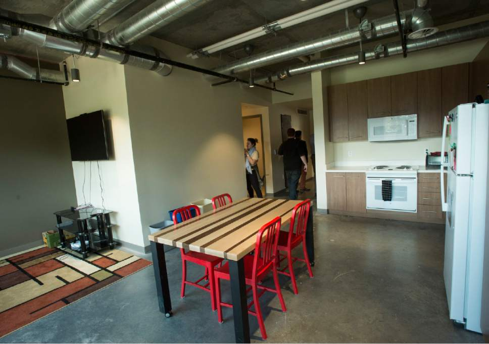 Rick Egan  |  Tribune file photo  Kitchen in the loft living space at the Lassonde Entrepreneur Institute, Lassonde Studios, a one-of-a-kind facility where students can live, create new products and launch companies. Thursday, September 22, 2016.