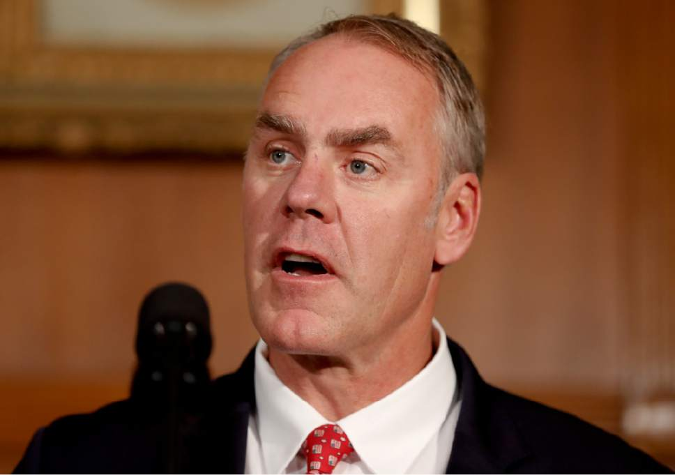 FILE   In This April 26, 2017, File Photo, Interior Secretary Ryan Zinke