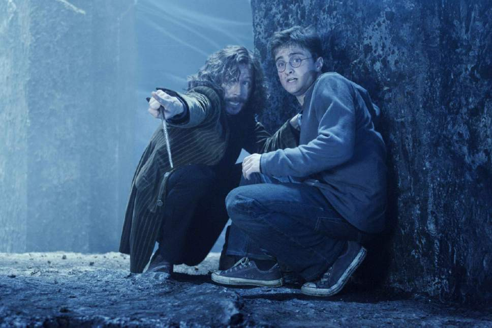 "Gary Oldman as Sirius Black and Daniel Radcliffe as Harry Potter in Warner Bros. Pictures' fantasy ""Harry Potter and the Order of the Phoenix."""