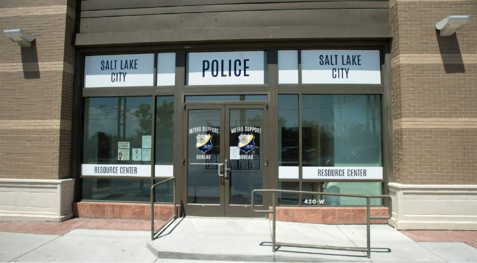 Rick Egan  |  The Salt Lake Tribune  Speaker Greg Hughes has set up shop in an unused Salt Lake City Police Department office on 200 South and 420 West, to form a short-term plan for the Rio Grande area. Friday, July 21, 2017.