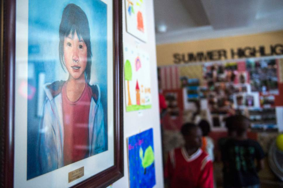 Chris Detrick  |  The Salt Lake Tribune A portrait of Hser Ner Moo hangs on the wall at the Hser Ner Moo Community Center in South Salt Lake on Tuesday, July 18, 2017.