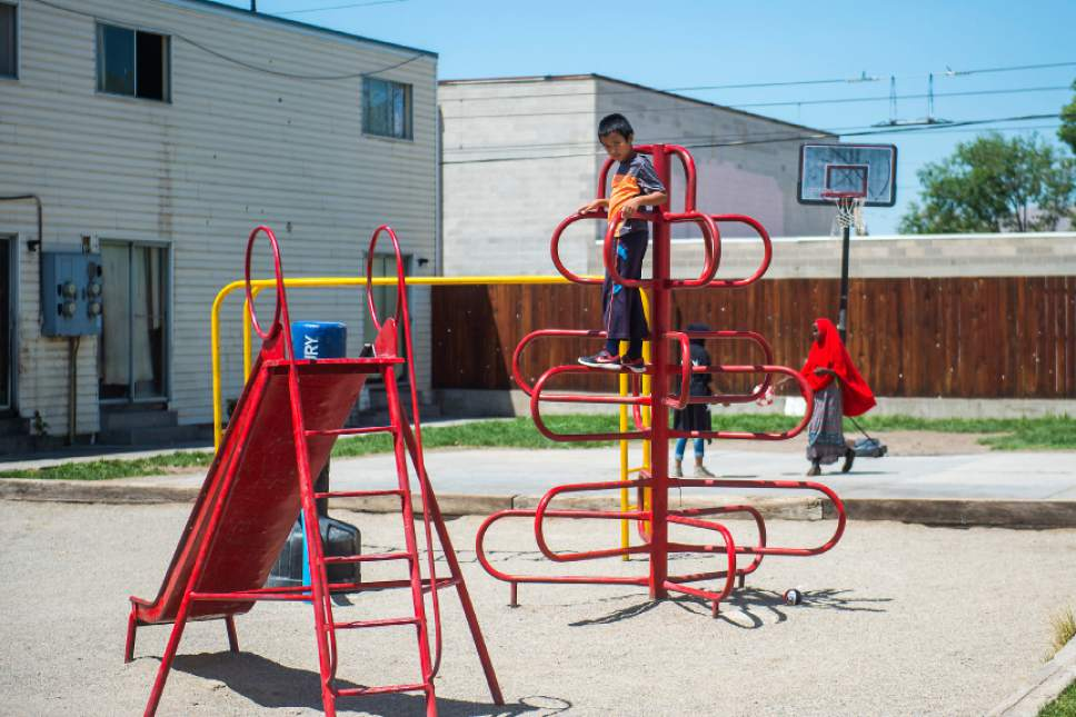 Chris Detrick  |  The Salt Lake Tribune Tar Reh, 11, plays at the Hser Ner Moo Community Center in South Salt Lake on Tuesday, July 18, 2017.