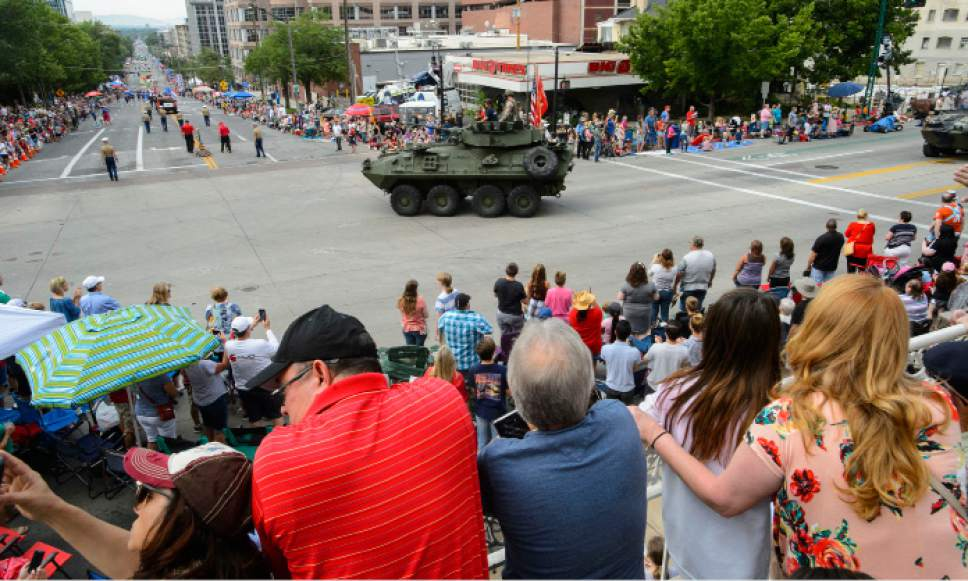 Steve Griffin     The Salt Lake Tribune   The Days of '47 Parade heads down 200 East in Salt Lake City on Monday, July 24, 2017.