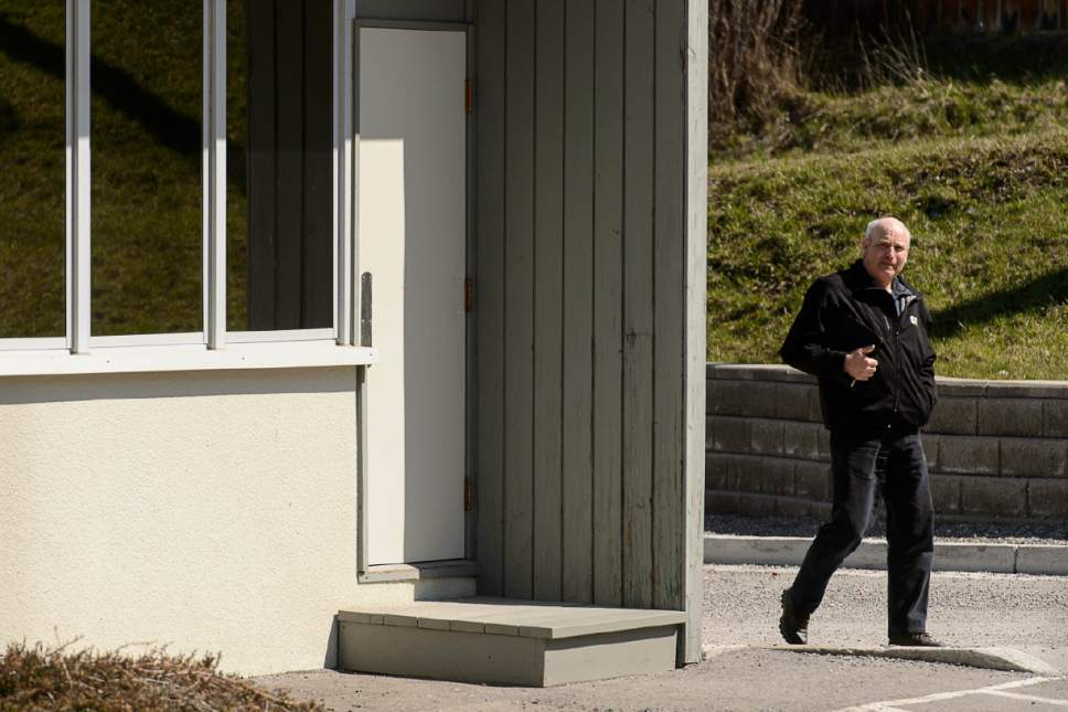 Trent Nelson  |  The Salt Lake Tribune James Oler outside the courthouse during a break in his trial in Cranbrook, B.C., Wednesday April 19, 2017. Oler and co-defendant Winston Blackmore are the first fundamentalist Mormons to be tried for polygamy in Canada.