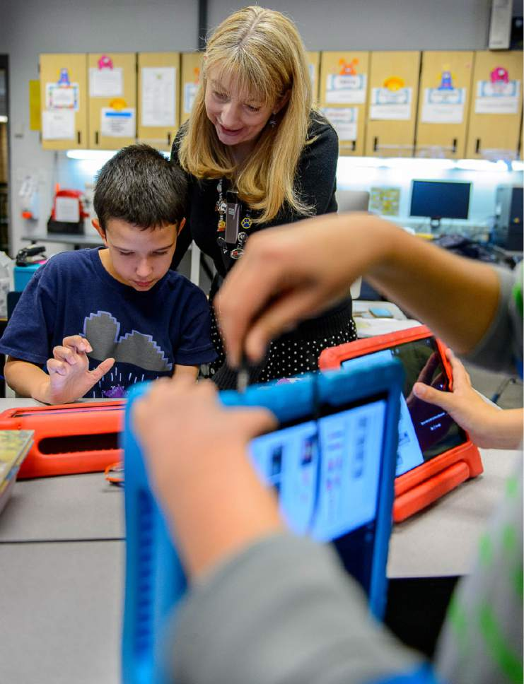 Trent Nelson  |  Tribune file photo A fifth-grade class at Newman Elementary in Salt Lake City.  Advocates and union members are planning a march for Saturday in Salt Lake in support of Utah public education, in light of policies pushed by President Donald Trump and his Education Secretary Betsy DeVos.