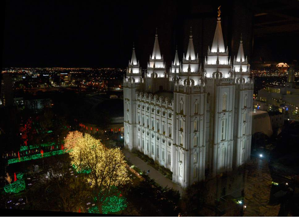 Leah Hogsten     Tribune file photo Temple Square in Salt Lake City on Friday, November 28, 2014..