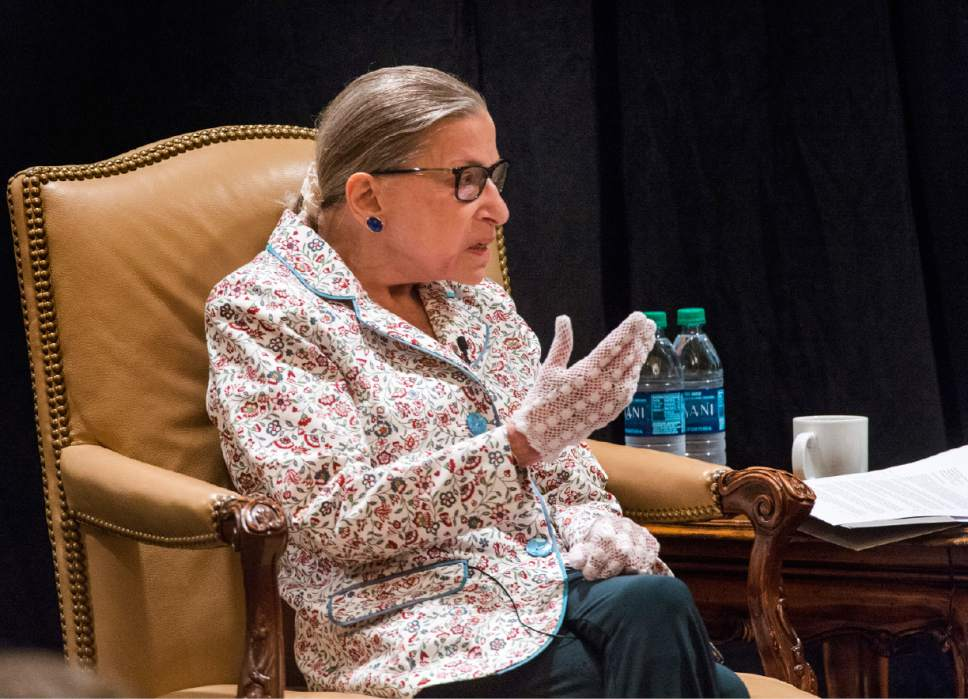 Justice Ruth Bader Ginsburg Aka The Notorious R B G Tells Utah Attorneys Do Something Outside Of Yourself The Salt Lake Tribune