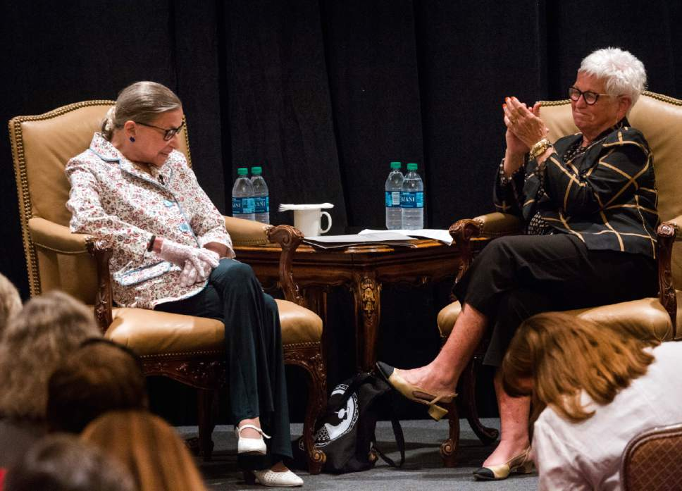 Rick Egan  |  The Salt Lake Tribune  A conversation with U.S. Supreme Court Justice Ruth Bader Ginsburg moderated by Deanell R. Tacha, at the Utah State Bar, annual convention at the Sun Valley Inn, Friday, July 28, 2017.