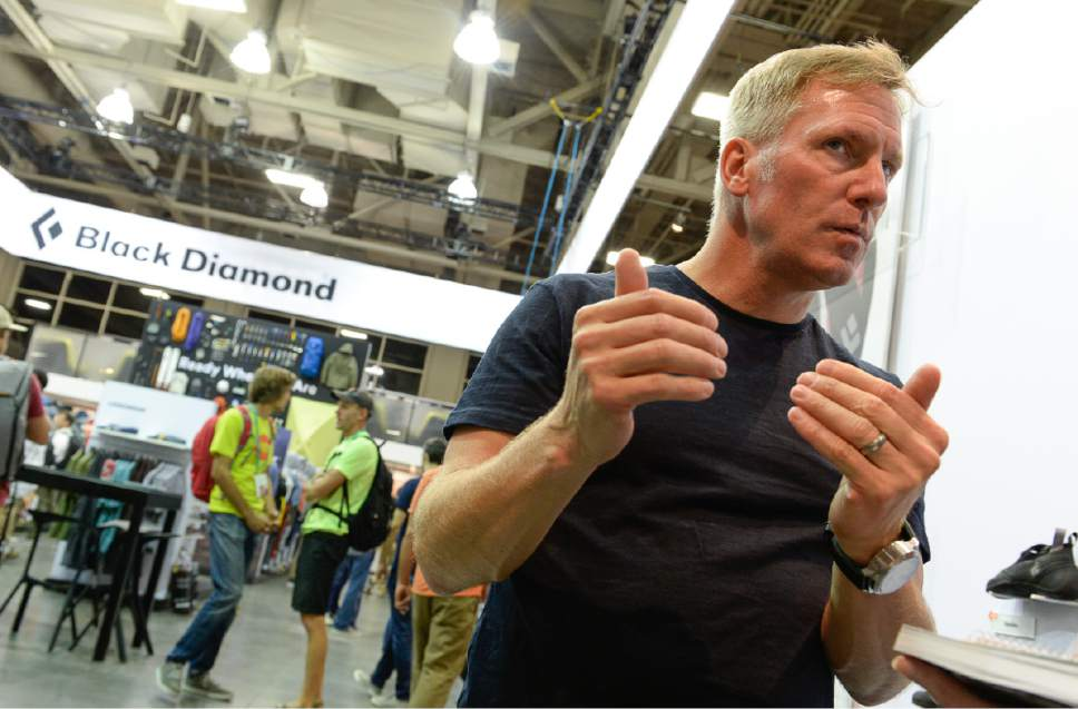 """Francisco Kjolseth     The Salt Lake Tribune John Walbrecht, President of Black Diamond based in Salt Lake City, is """"bummed"""" as the Outdoor recreation industry stages their last trade show in Utah on Wed. July 26, 2017, before moving to Denver, Colorado after two decades in Salt Lake City."""