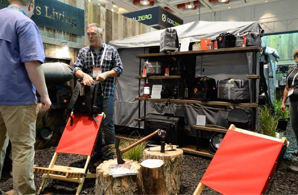 Francisco Kjolseth     The Salt Lake Tribune Many local outdoor companies will soon be traveling to Colorado, including Barebones as the Outdoor recreation industry stages their last trade show in Utah on Wed. July 26, 2017, before moving to Denver after two decades in Salt Lake City.