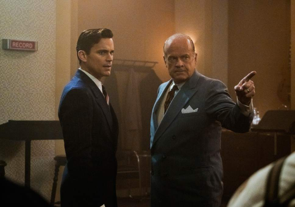 "This image released by Amazon shows Matt Bomer, left, and Kelsey Grammer in ""The Last Tycoon."" (Aaron Epstein/Amazon via AP)"