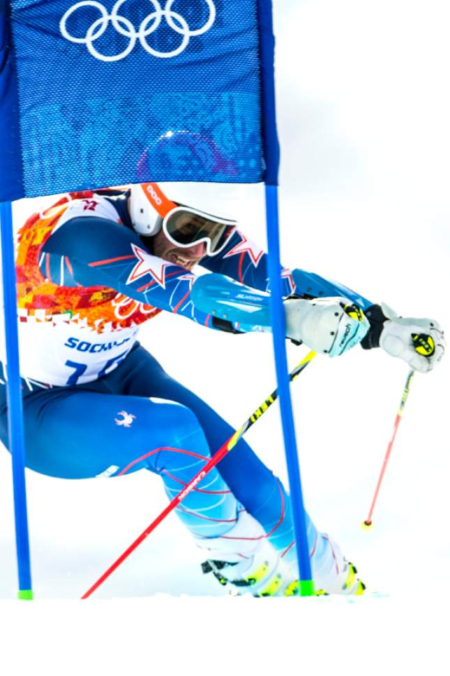 KRASNAYA POLYANA, RUSSIA  - JANUARY 19: Bode Miller competes in the Men's Giant Slalom at Rosa Khutor Alpine Center during the 2014 Sochi Olympics Wednesday February 19, 2014. Miller finished in 20th place with a time of 2:47.82.   (Photo by Chris Detrick/The Salt Lake Tribune)