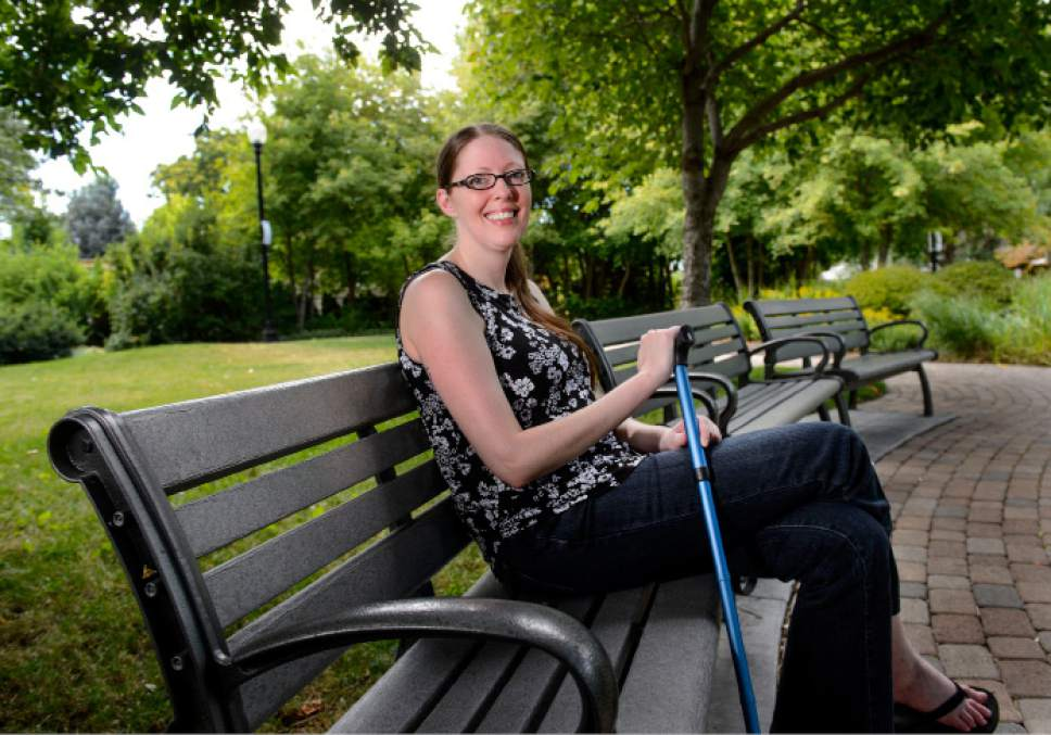Steve Griffin     The Salt Lake Tribune   Amanda Ellis-Graham was diagnosed with MS about 20 years ago and struggled for a long time on the numerous prescription medications she had to take. She was having vision and hearing problems, terrible vertigo and her body would go numb. When she tried medical marijuana, everything changed and she did much better. So she obviously is very much in support of the ballot initiative, like the 77 percent of people polled in our most recent poll. She was photographed in a neighborhood park in Salt Lake City Friday July 28, 2017.