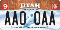 The new skier plate was created from a newspaper archive photo of former U.S. Ski Team member Heidi Voelker.