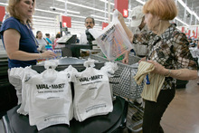 Paul Sakuma  |  The Associated PressWal-Mart spokesman David Tovar points to a company-sponsored study indicating that in 90 percent of its stores, there were no statistically significant pay disparities between men and women. But plaintiffs' experts said they found sex discrimination in all 46 Wal-Mart regions.