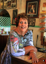 Rick Egan      The Salt Lake Tribune  Nedra Burchinal, owner of Nedra's, Too restaurant in Kanab, had her property in Fredonia searched Sunday morning. She also said that Scott Curley came in to her restaurant looking for a job earlier last week.