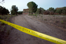 Rick Egan   |  The Salt Lake Tribune  A home east of Kanab where Scott Curley was captured early Monday, Aug. 30.