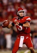 Trent Nelson  |  The Salt Lake TribuneUtah quarterback Jordan Wynn as the University of Utah defeats Pitt 27-24 in overtime, college football, Thursday, September 2, 2010 at Rice-Eccles Stadium in Salt Lake City.
