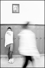 This portrait of an undocumented is a part of series by Salt Lake City photographer Lynn Hoffman-Brouse on display at the University of Utah this month. The series conveys the stories of immigrant students who grew up in Utah here and are seeking a college education. Photo courtesy of the University of Utah.
