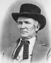 This is an undated  file photo, circa 1850, showing John D. Lee, the man convicted for the Mountain Meadows Massacre north of St. George, Utah. Mormon settlers and indians, led by Lee, killed 120 people from Arkansas in a wagon train that was passing through on their way to California.      (AP Photo/Utah Historical Society, File)