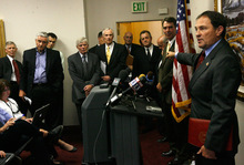 Rick Egan   |  The Salt Lake TribuneGary Herbert for governor campaign fires back at what it says are Peter Corroon's