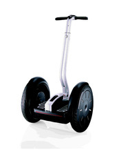 FILE - This undated file photo released by Segway, Inc. shows the Segway i2 Personal Transporter. A British businessman who last year bought the company that makes the two-wheeled Segway personal transporter has died in an accident on one of the vehicles. Police in West Yorkshire said Monday Sept. 27, 2010 that 62-year-old James Heselden and a Segway were found in the River Wharfe near Boston Spa, in northern England. Police said a member of the public had reported seeing a man fall over a 30-foot (9-meter) drop into the river on Sunday.  (AP Photo/Segway, Inc., File)