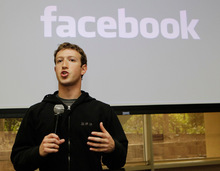 In this May, 26, 2010 file photo, Facebook CEO Mark Zuckerberg talks about the social network site's new privacy settings in Palo Alto, Calif. (AP Photo/Marcio Jose Sanchez, file)