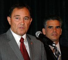 Steve Griffin  |  The Salt Lake Tribune  Utah Governor Gary Herbert