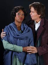 Leah Hogsten  |  The Salt Lake Tribune Laquita Mitchell as Mimi and Gerard Powers as Rodolfo.  La Boheme  Wednesday, October 6, 2010, in Salt Lake City.