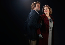 Leah Hogsten  |  The Salt Lake Tribune Brian Leerhuber as Marcello and Celena Shafer as Musetta. La Boheme  Wednesday, October 6, 2010, in Salt Lake City.