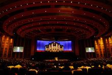 Scott Sommerdorf  l  The Salt Lake TribuneThe Conference Hall at LDS General Conference on Sunday.