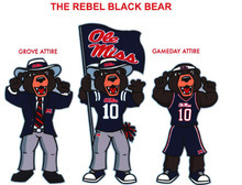 This artists rendering released by the University of Mississippi shows the Rebel Black Bear. The school announced Thursday, Oct. 14, 2010, that students at the school have picked the Rebel Black Bear as their new mascot.  (AP Photo/University of Mississippi Student Mascot Selection Committee)